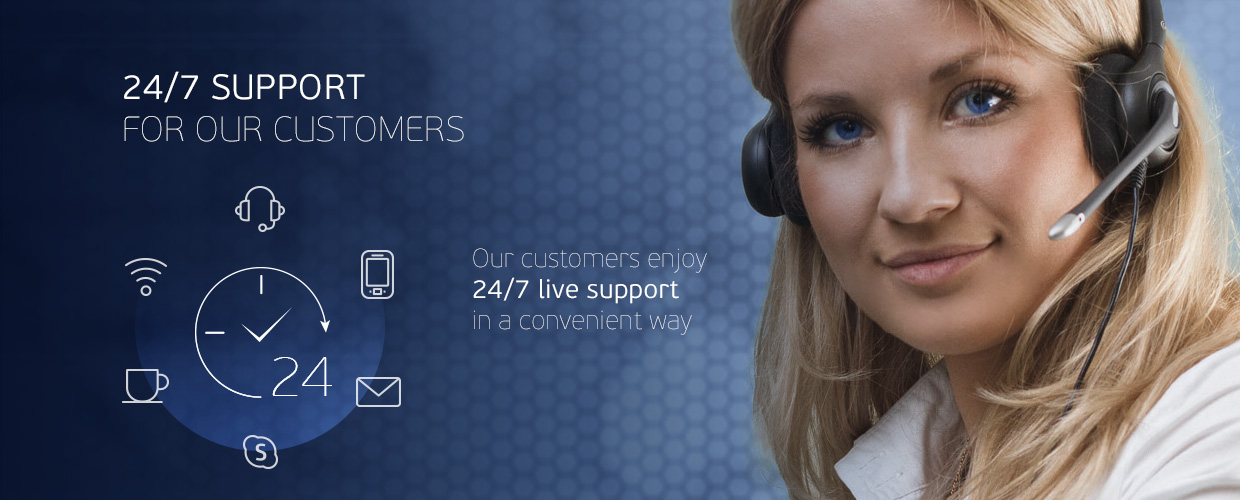 24/7 Support for our customers